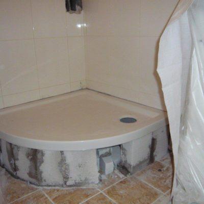 Budovanie sprchovacieho kúta